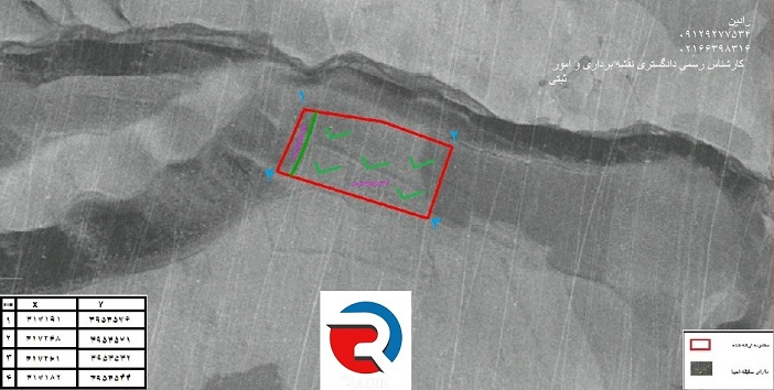 انجام تفسیر عکسهای هوایی و جانمایی سند ملک